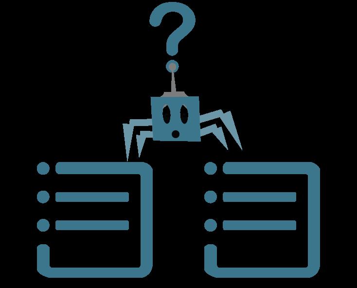 duplicate content spider