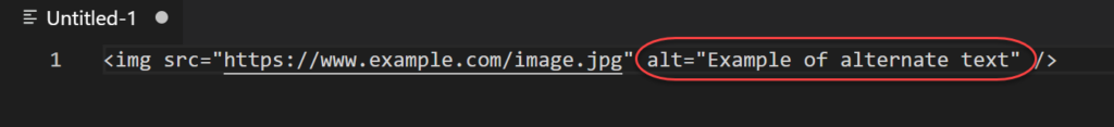 example of alt attribute text on an image tag in html